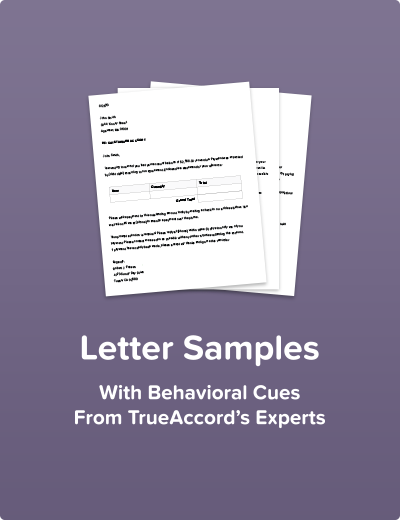 Letter Samples with Behavioral Cues from TrueAccord's Experts